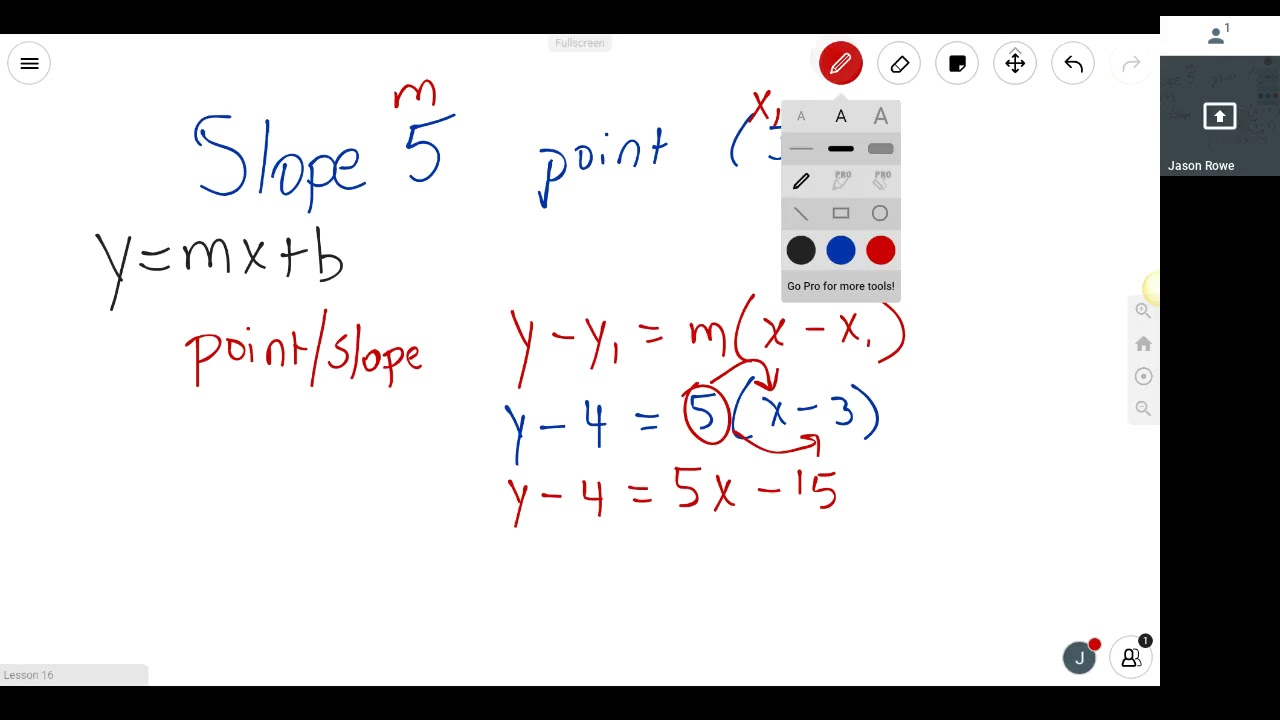 write equations in slope intercept form  youtube