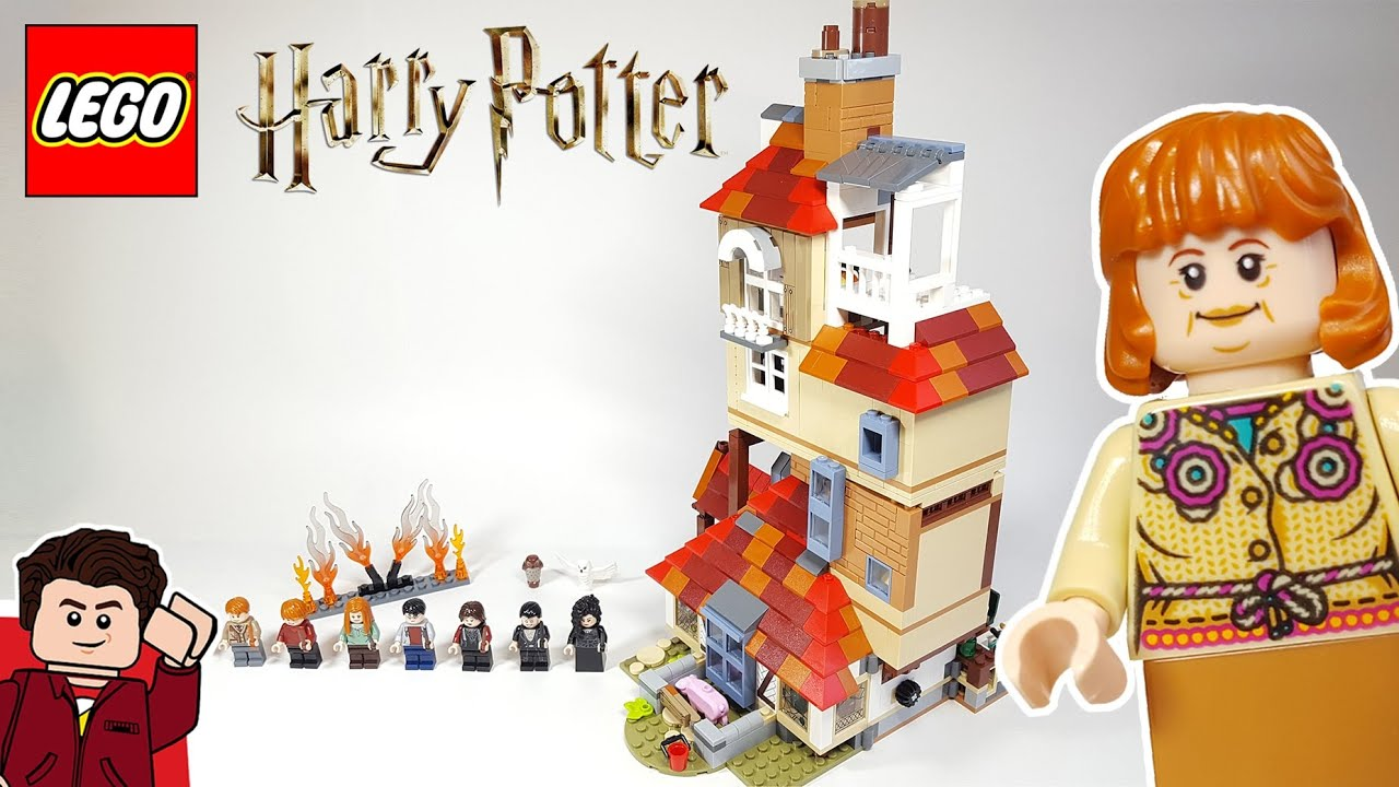 Lego Harry Potter Attack On The Burrow 75980 Set Review Youtube