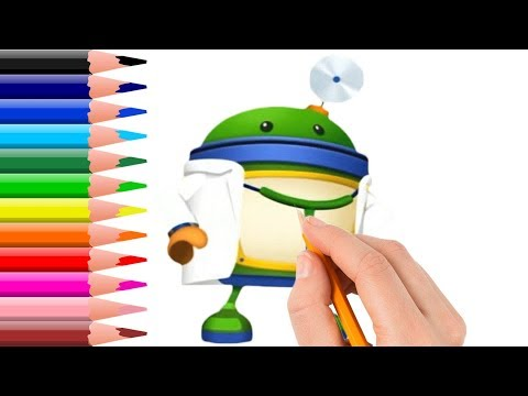 How to Draw Team Umizoomi Doctor Bot Coloring Pages Videos for Kids ...