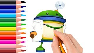 How to Draw Team Umizoomi Doctor Bot Coloring Pages Videos for Kids