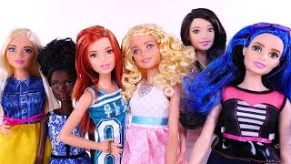 6 NEW Barbie Fashionistas The Doll Evolves 2016 Mattel Barbies Different Skin,Hair,Height,Size