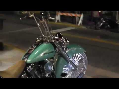 Harley Davidson Softail Gangster Style Fishtails Big 26 Wheel Bike Week 2019