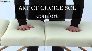 Art of Choice Sol comfort видео обзор массажного стола