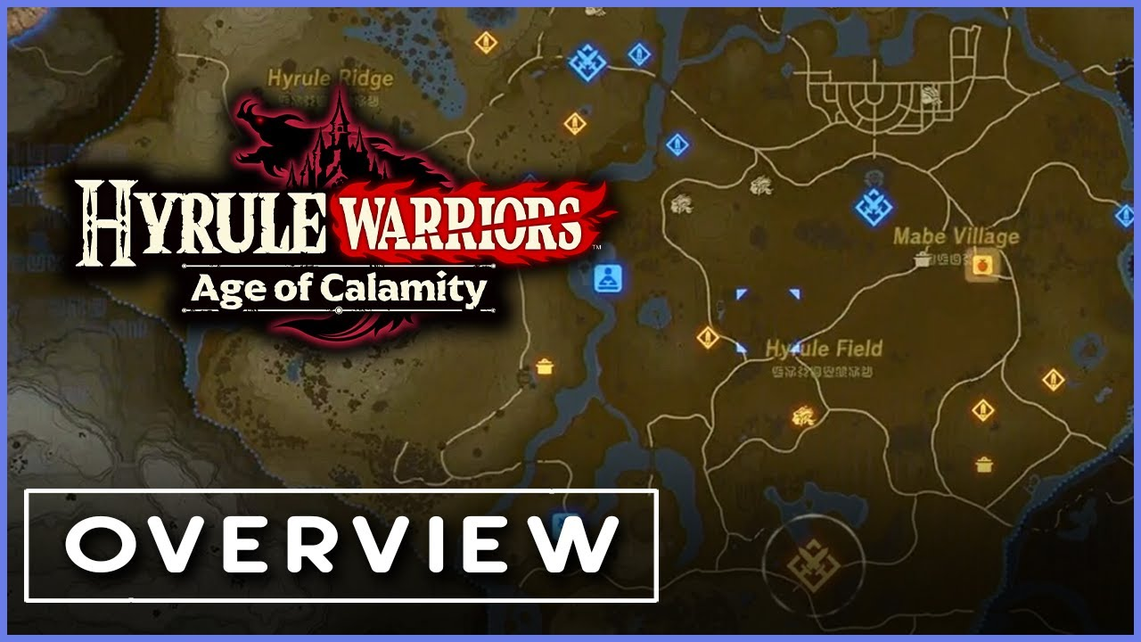 World Map Overview Quests Cooking In Hyrule Warriors Age Of Calamity Nintendo Treehouse Live Youtube