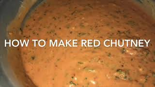 Home Made Red Chutney | Dixy Style