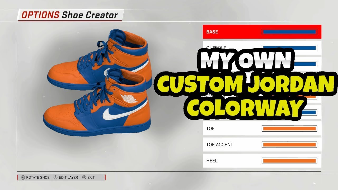 NBA 2K18 CREATING MY OWN SIGNATURE JORDAN CUSTOM COLORWAY SHOE
