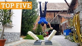 TOP FIVE: Stuntman Training, Breakdancing & Tennis Freestyle | PEOPLE ARE AWESOME 2016