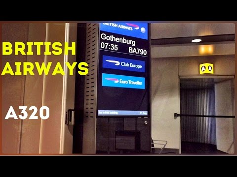 British Airways A320 Euro Traveller - London Heathrow to Gothenburg