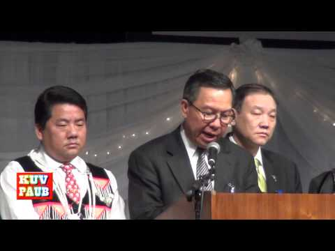 Col. Lee Teng Opens the MN Hmong New Year 2014 to the Hmong Community