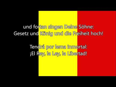 Himno nacional de Bélgica - La Brabanzona (FR/NL/DE/ES Letra)