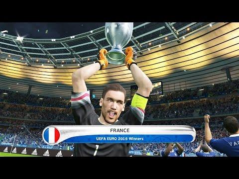 PES 2016 UEFA Euro 2016 Final France Vs Germany 1-0 Gameplay