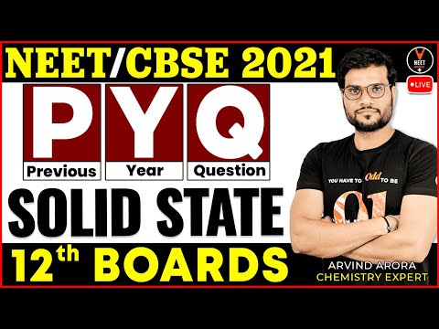 Solid State Class 12 Chemistry Previous Year Question   Class 12 Board Exam 2021   Arvind Sir