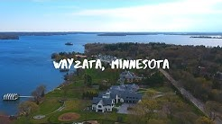 Wayzata Minnesota from above