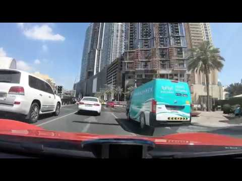 Driving from Burj Khalifa, Dubai to Atlantis, Palm Jumeirah - FULL