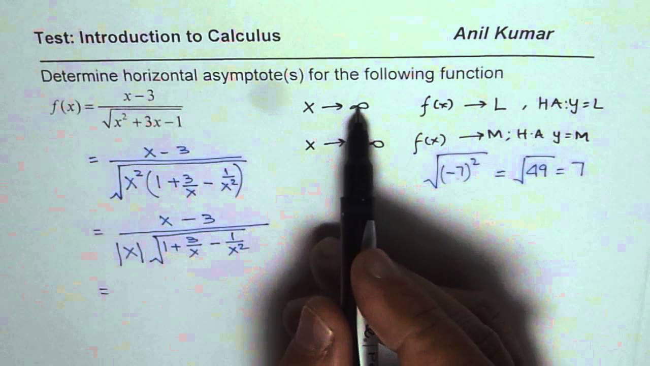 Determine horizontal asymptotes for the radical function youtube ccuart Gallery