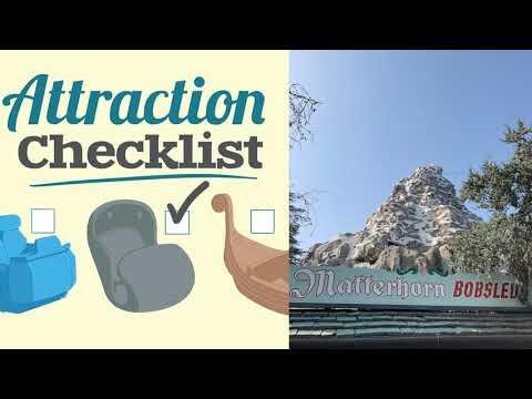 Matterhorn Bobsleds - Disneyland - Attraction Checklist #61