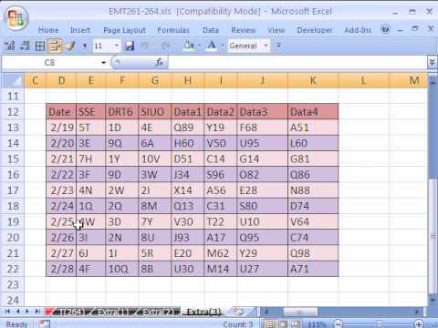 Excel Magic Trick # 264: Absolute & Relative Macro Fix Data