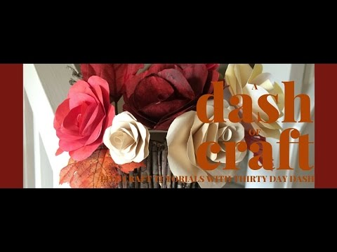 A Dash of Craft - Paper Roses, Twig Vases, and Twine Placecard Holders