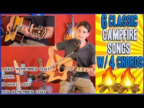 6 Guitar Campfire Classics w/ 4 Chords