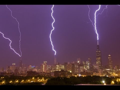 Chicago Triple Lightning Strikes to Sears, Trump, Hancock ...