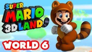 Super Mario 3D Land - World 6 (Nintendo 3DS Gameplay Walkthrough)