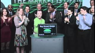 Bay Street Hoops opens Toronto Stock Exchange, March 23, 2012.