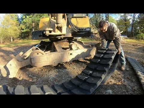 How to install an excavator track