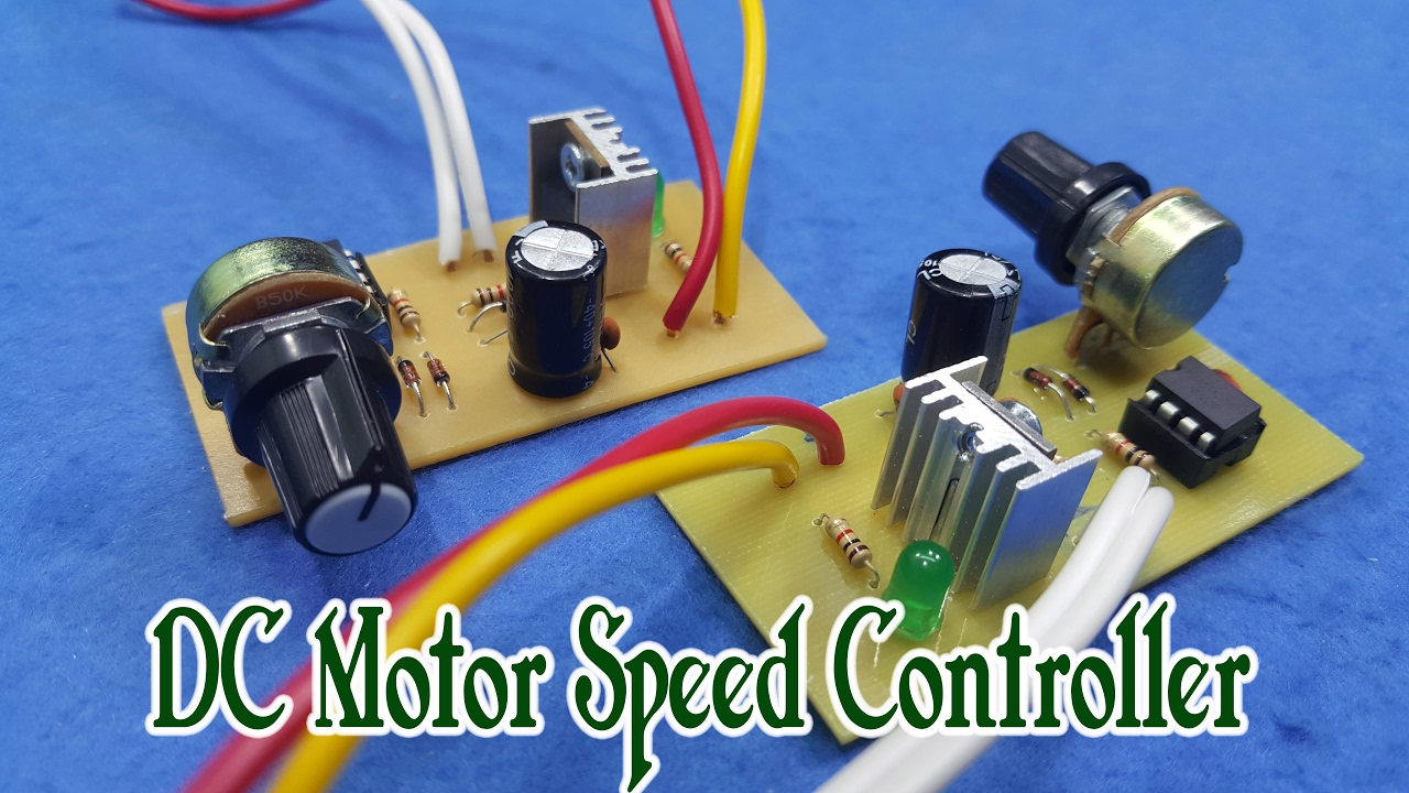 How To Make Dc Motor Speed Controller Youtube Circuit Schematic Diagram Of Fan Control
