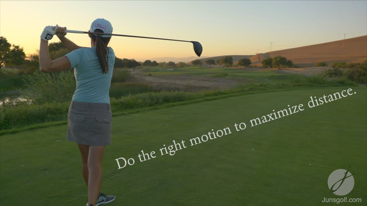 Do the right swing to maximize distance