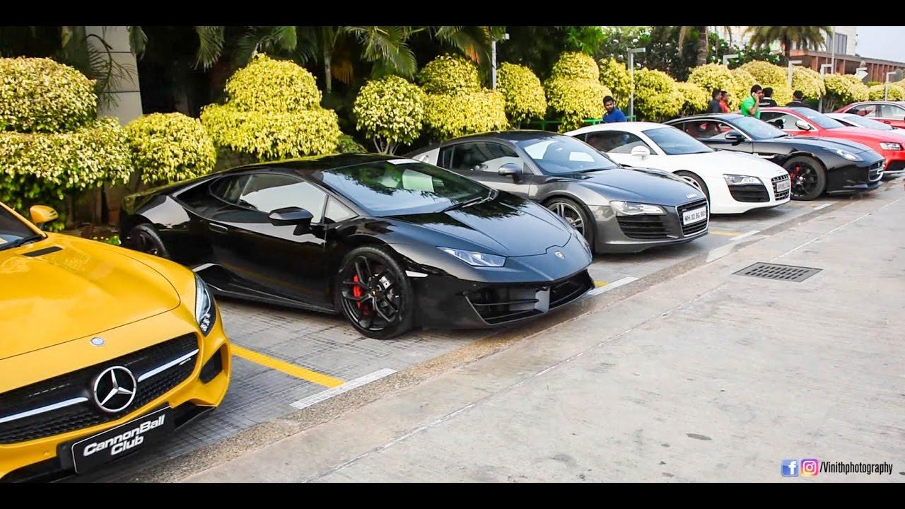 Best Super Car Meet In Hyderabad Youtube