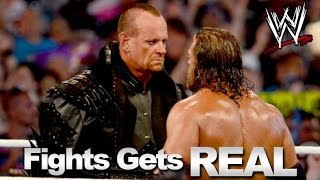 wwe the fight turns real   wrestlers real fighting