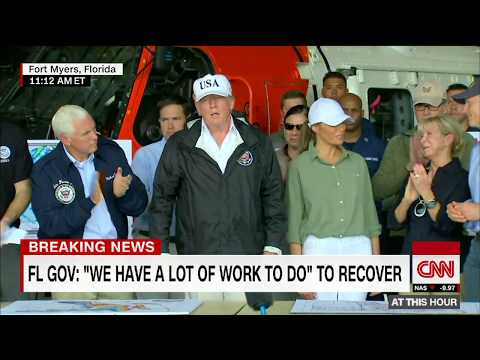 President Trump arrives in Irma ravaged Florida