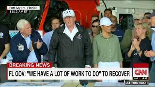 President Trump arrives in Irma ravaged Florida