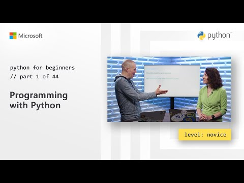 Programming with Python | Python for Beginners [1 of 44]