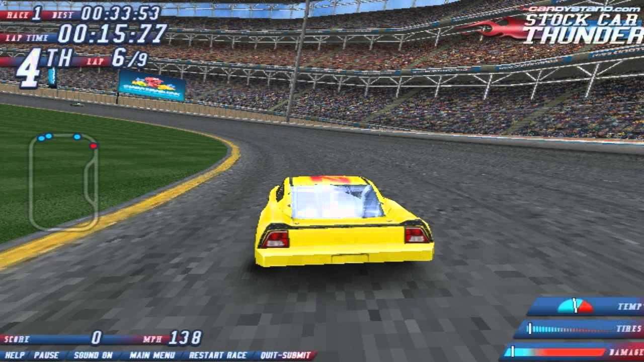 Play Stock Car Thunder Racing Games Online Free Youtube