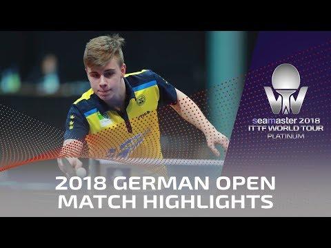 2018 German Open Highlights I Truls Moregard vs Darko Jorgic (U21-R16)