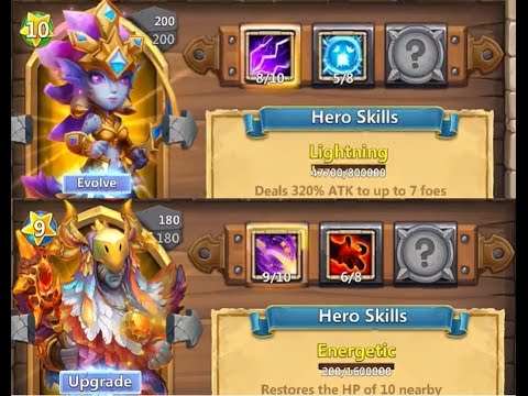 Double Evolving My Druid And Siren For New Demon Showing Stats Castle Clash