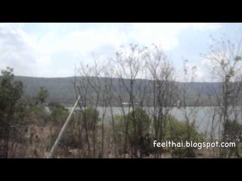 นั่งรถไฟผ่านอ่างเก็บน้ำลำตะคอง Lamtakong  reservoir