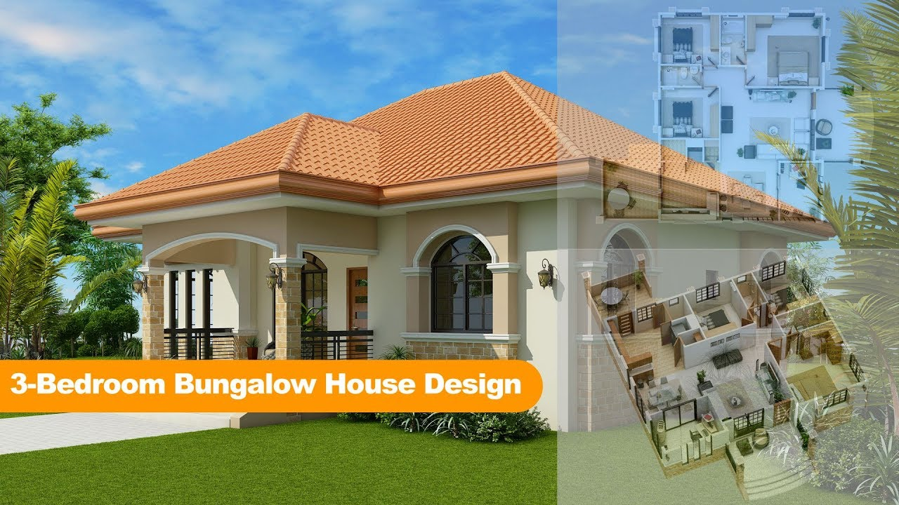 3 Bedroom Bungalow House Design Youtube