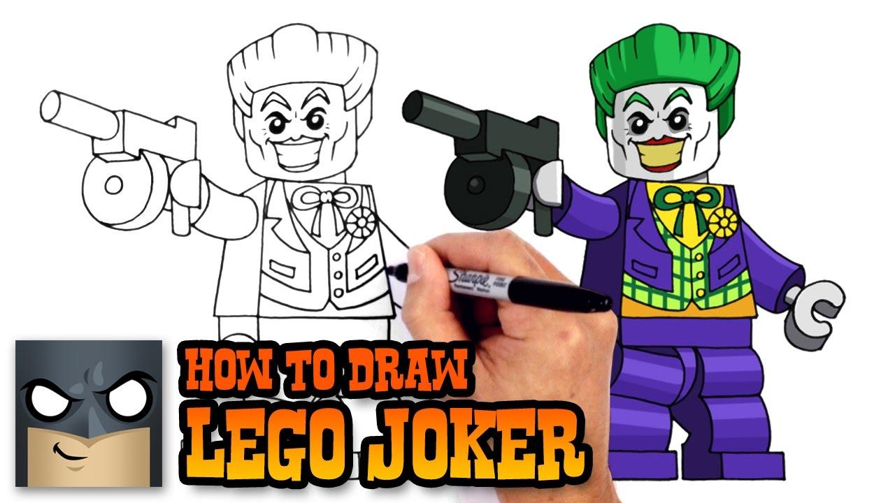 How to Draw Lego Joker Lego Batman