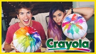 RAINBOW CRAYON PUMPKIN! - DIY With/iHasCupquake