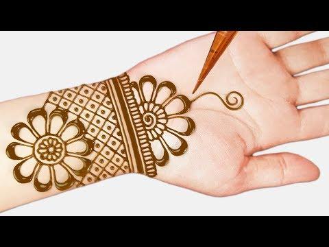 Download Lagu  Easy mehndi designs - Easy beautiful mehndi designs for hands - simple henna designs 2019 Mp3 Free