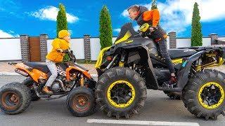 Кто круче ДРИФТИТ???Big ATV vs Little ATV???