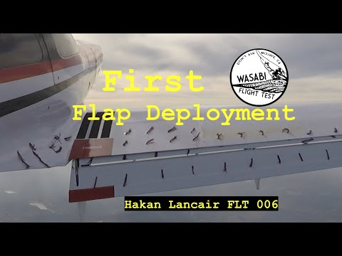 So Many Tufts - Stall Tests @ First Flap Deployment - Flt 6 - Hakan's Modified Lancair 320