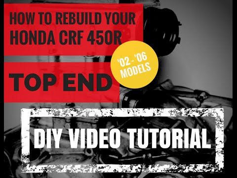 Honda CRF 450 Top End Rebuild How To Video Cylinder and Piston Replacement