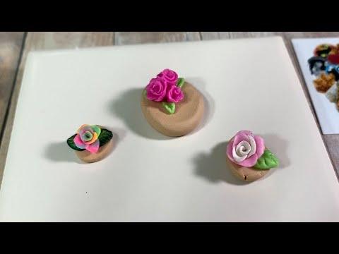 Easy polymer clay Flower tutorial