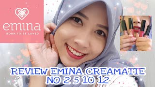 emina creamatte lip cream no 2 5 10 12