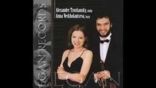 Gioacchino  Rossini : Andante con Variazioni per Arpa e Violino; Anna Verkholantseva-harp