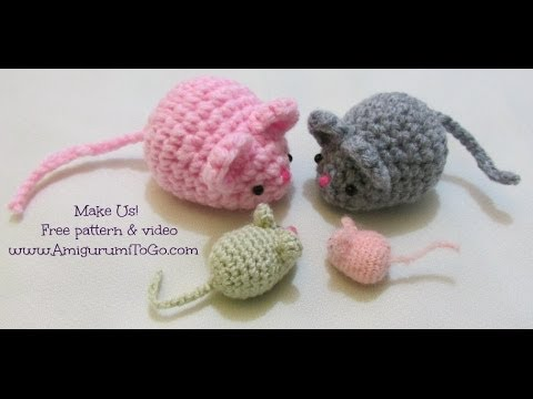 Amigurumi Facil Patron : Crochet along amigurumi mouse youtube