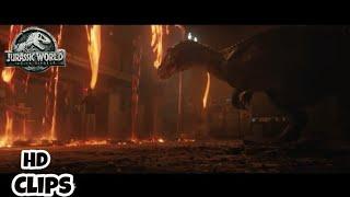 Jurassic World : Fallen Kingdom (2018) - Attack of boryonyx Scene and Volcano Eruption